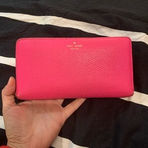 Kate Spade pink leather wallet